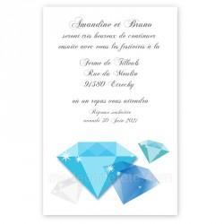 Invitation repas diamants