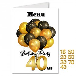 Menu birthday party