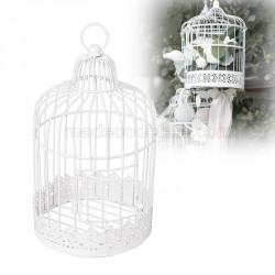 Cage oiseaux ronde blanche