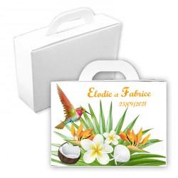 Valise dragées exotic paradise