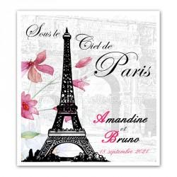 Faire-part Paris tour Eiffel