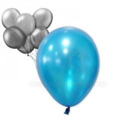 24 ballons nacrés turquoise