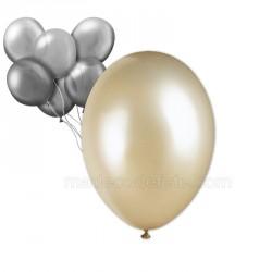 24 ballons nacrés ivoire