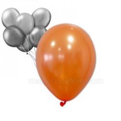 24 ballons nacrés orange