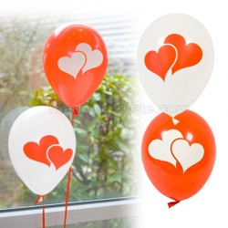 Ballons double coeurs x 8
