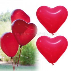 Ballons coeurs rouge x 12