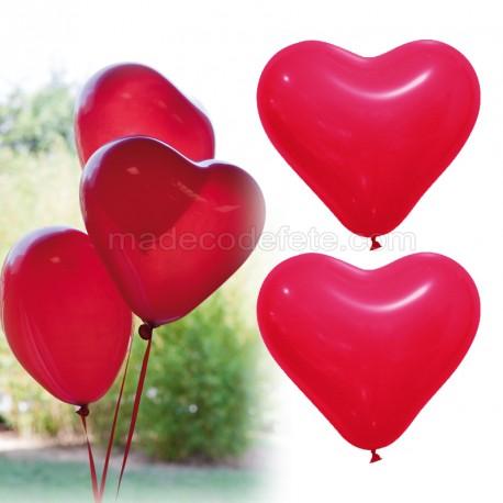 Ballons coeurs rouge x 12