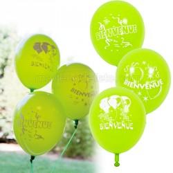 Ballons vert bienvenue x 8
