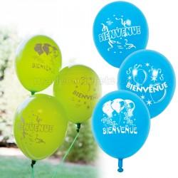 Ballons turquoise bienvenue x 8