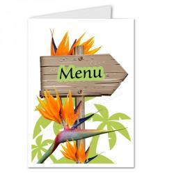 Menu fleurs strelitzia