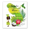 Invitation Martinique madras vert