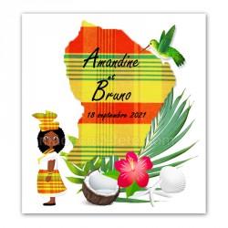 Faire-part Guyane madras jaune
