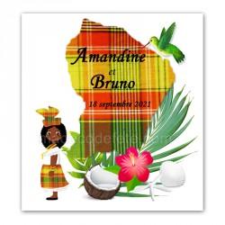 Faire-part Guyane madras rouge