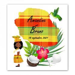Faire-part Réunion madras jaune