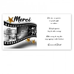 Carton remerciement cinéma star