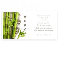 Carton remerciement zen bouddha