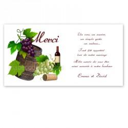 Remerciement vigne