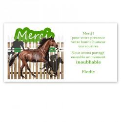remerciement sur le cheval