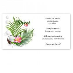 Remerciement tropical