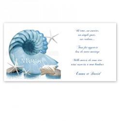 Remerciement mer coquillage nautile