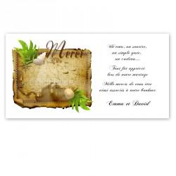Carton remerciement carte au trésor