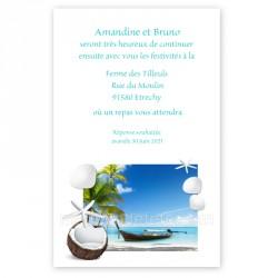 Invitation repas île barque