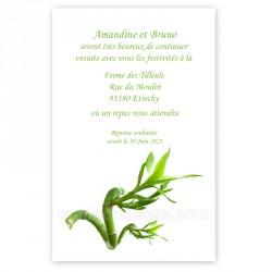 Invitation repas bambou zen