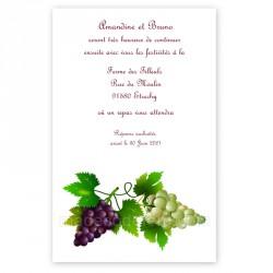 Invitation repas vin