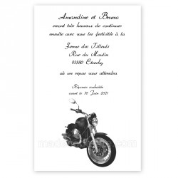 Invitation repas thème moto