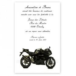 Invitation repas sur la moto
