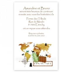 Invitation repas bon voyage