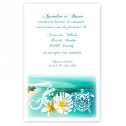 Invitation repas Polynésie bleue