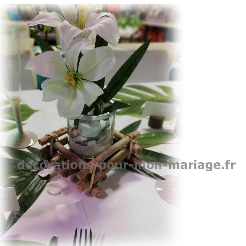 centre de table décoratif exotique