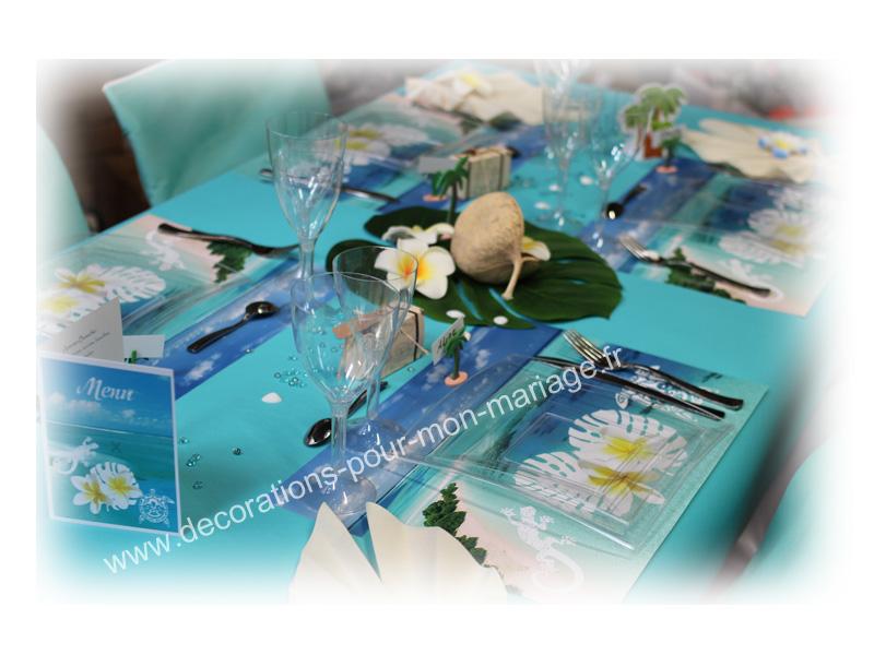 decorations pour un mariage theme polynésie et les iles