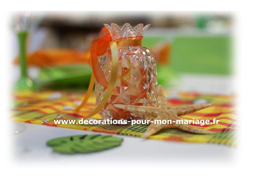 ananas décoratif contenant dragées des îles