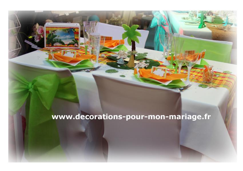 Décorations pour un mariage madras antillais