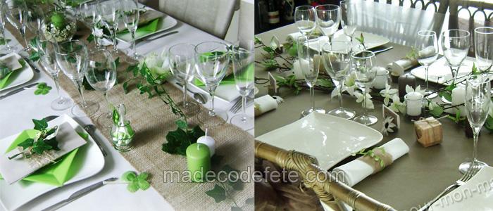décorations table mariage esprit nature champêtre