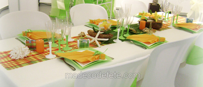 decorations antillaises madras mariage antillais mixte