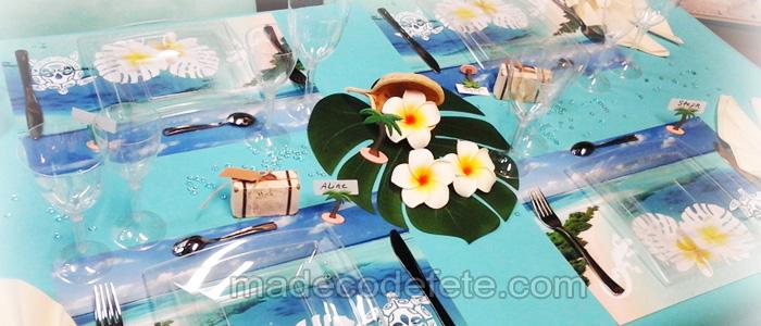 decorations table mariage et fêtes theme polynesie
