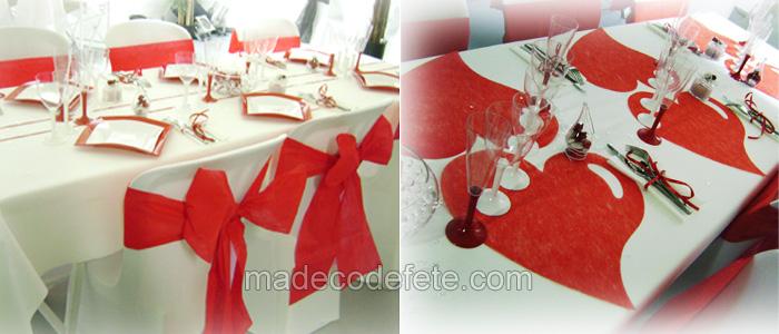 Decoration Mariage Theme Amour Deco Mariage En Rouge Blanc