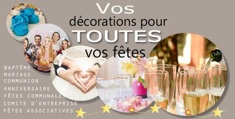 Madecodefete.com votre partenaire décorations pour tous vos événements